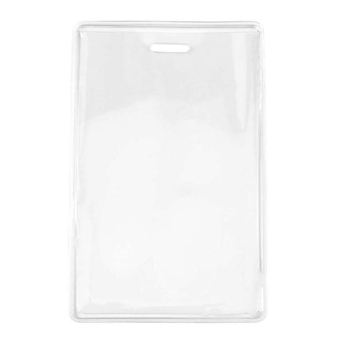 Heavy Duty Anti-Transfer Vinyl Prox Badge Holder, Clear, Cr80 Vertical (100/Pk)