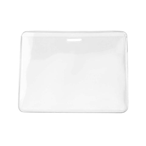 Heavy Duty Anti-Transfer Vinyl Prox Badge Holder, Clear, Cr80 Horizontal (100/Pk)