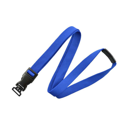 "5/8"" Flat Lanyard, Royal Blue W/Detachable Combo Loop, W/Breakaway (25/Pk)"