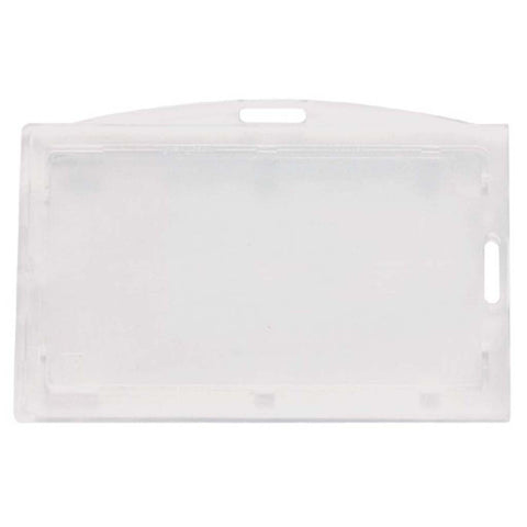 Locking Polycarbonate 2 Card Badge Holder, Clear, Cr80 Horizontal (50/Pk)