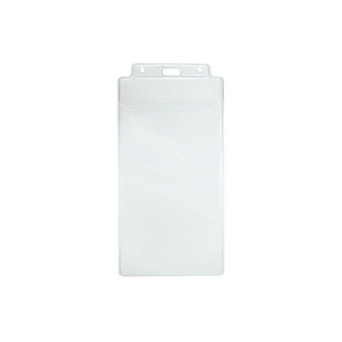 "Vinyl Event Ticket Holder, Clear 3.937"" X 7.75"" Vertical (100/Pk)"