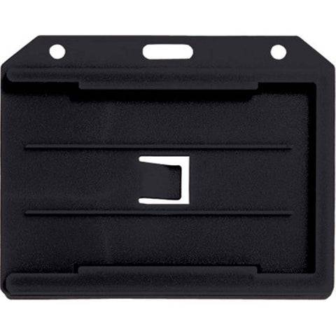 Abs 2-Sided,4 Card Badge Holder, Black, Cr80 Horizontal (50/Pk)