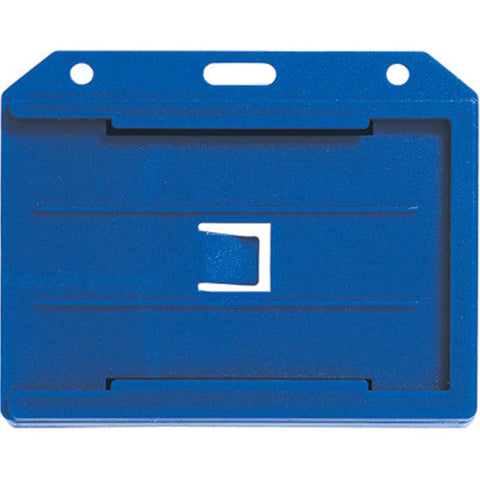Abs 2-Sided,4 Card Badge Holder, Blue, Cr80 Horizontal (50/Pk)