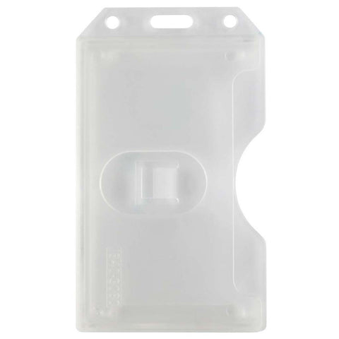 Abs 2-Sided,6 Card Badge Holder, Clear, Cr80 Vertical (50/Pk)