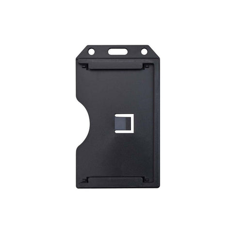 Abs 2-Sided,6 Card Badge Holder, Black, Cr80 Vertical (50/Pk)
