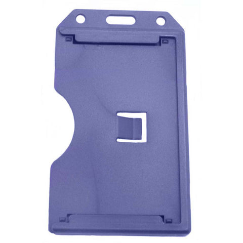 Abs 2-Sided,6 Card Badge Holder, Blue, Cr80 Vertical (50/Pk)