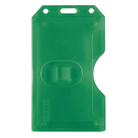 Abs 2-Sided,6 Card Badge Holder, Green Cr80 Vertical (50/Pk)