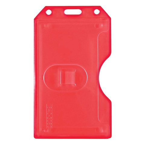 Abs 2-Sided,6 Card Badge Holder, Red, Cr80 Vertical (50/Pk)