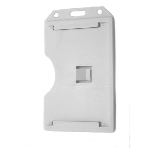 Abs 2-Sided,6 Card Badge Holder, White, Cr80 Vertical (50/Pk)