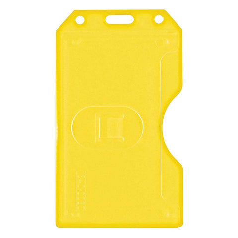 Abs 2-Sided,6 Card Badge Holder, Yellow, Cr80 Vertical (50/Pk)
