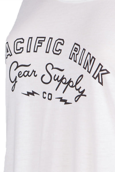 PRGS Bolts Scoop Tee | White