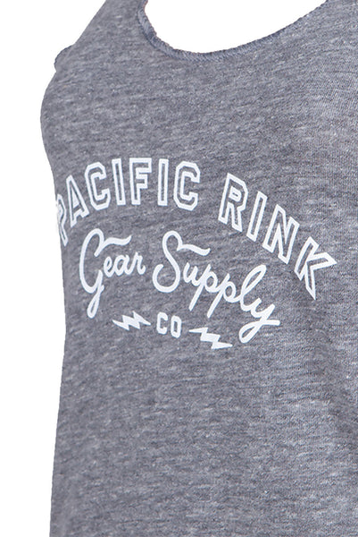 PRGS Bolts Racerback Eco-Jersey Tank | Grey