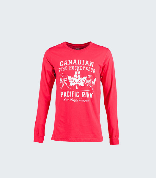 Canadian Pond Hockey Club L/S Tee | Red