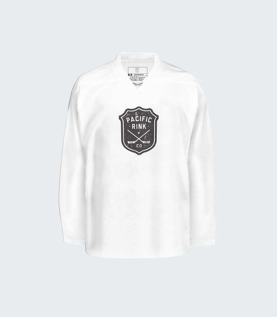 Pacific Rink Practice Jersey Adult | White