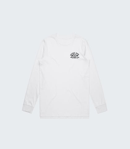 Pacific Rink Pond Hockey Club L/S Tee | White