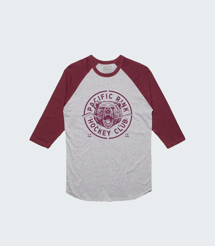 Revolt Baseball Tee | Athletic Htr/Burgundy