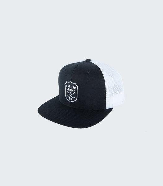 Sheriff's Flatbill Trucker | Black/White