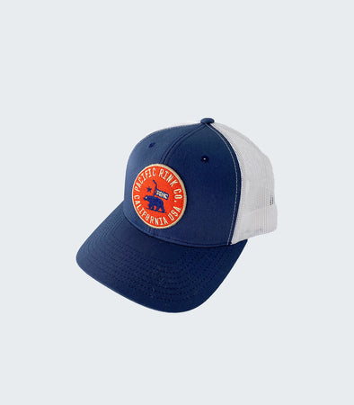 State Seal Retro Trucker | Navy/White
