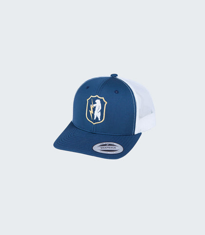 Teddy Thunderbolt Retro Trucker | Navy/White