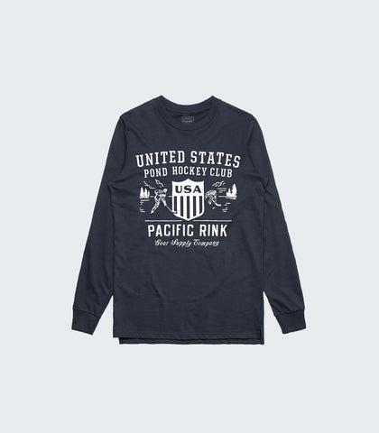 U.S. Pond Hockey Club L/S Tee | Navy