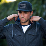 Pacific Sunset Woolly Snapback | Black and White Patch