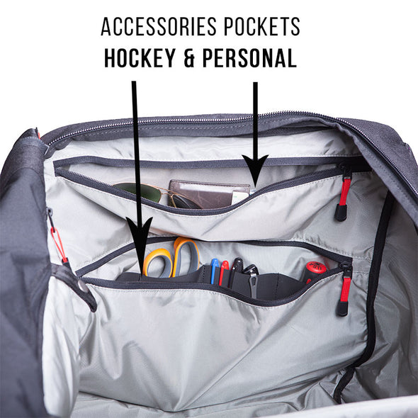 Hockey Bag, Personal Pocket, Scissor Sleeve