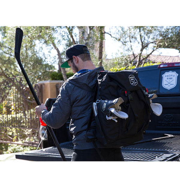 Pacific Rink Ultimate Pond Hockey Bag, Coaches Bag and Ref Bag Black Kyle Clifford