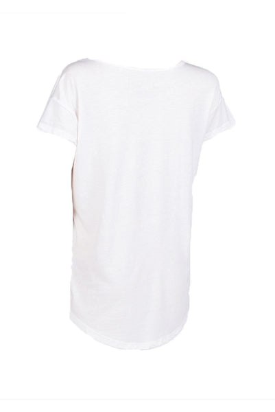 Logo Scoop Tee | White