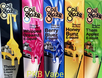 Coil Glaze - Berry Bluez - Honey Bunz - These Lemonz - Them Applez -Whipped Dreamz 50ml Shortfill - 0mg - PKB-Vape