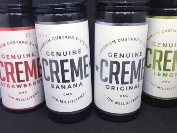 Genuine Creme - Original Strawberry Banana lemon - 100/120ml Short fill - PKB-Vape