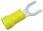 100 YELLOW # 8 FLANGED SPADES TERMINAL