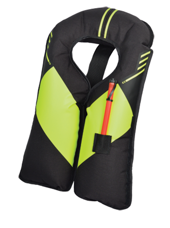 INFLATABLE PFD, BLACK/RED AUTOMATIC