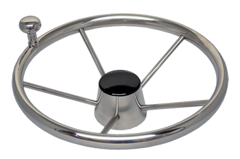 "13.5"" S/S STEERING WHEEL W/KNO"
