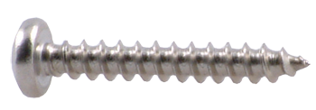 "BOX OF 100, SCREW #12 X 1 1/2"" SELF TAP, ROUND HEAD S/S"