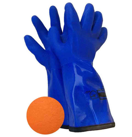 GLOVES BLUE PVC LINED