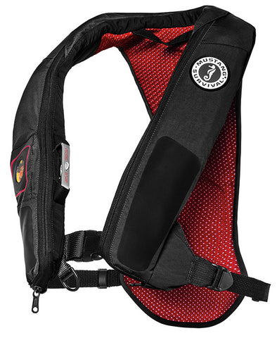 PFD, INFLATABLE BLACK/RED ELITE38