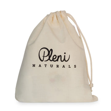 The Pleni Naturals organic muslin bag is what we use to bundle our gift sets sustainably. Purchase the muslin bag and create your own gift bundle for baby, child or new mama.