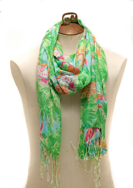 Limited Edition Lilly Pulitzer Murfee Scarf Inspired by Caneel Bay Resort