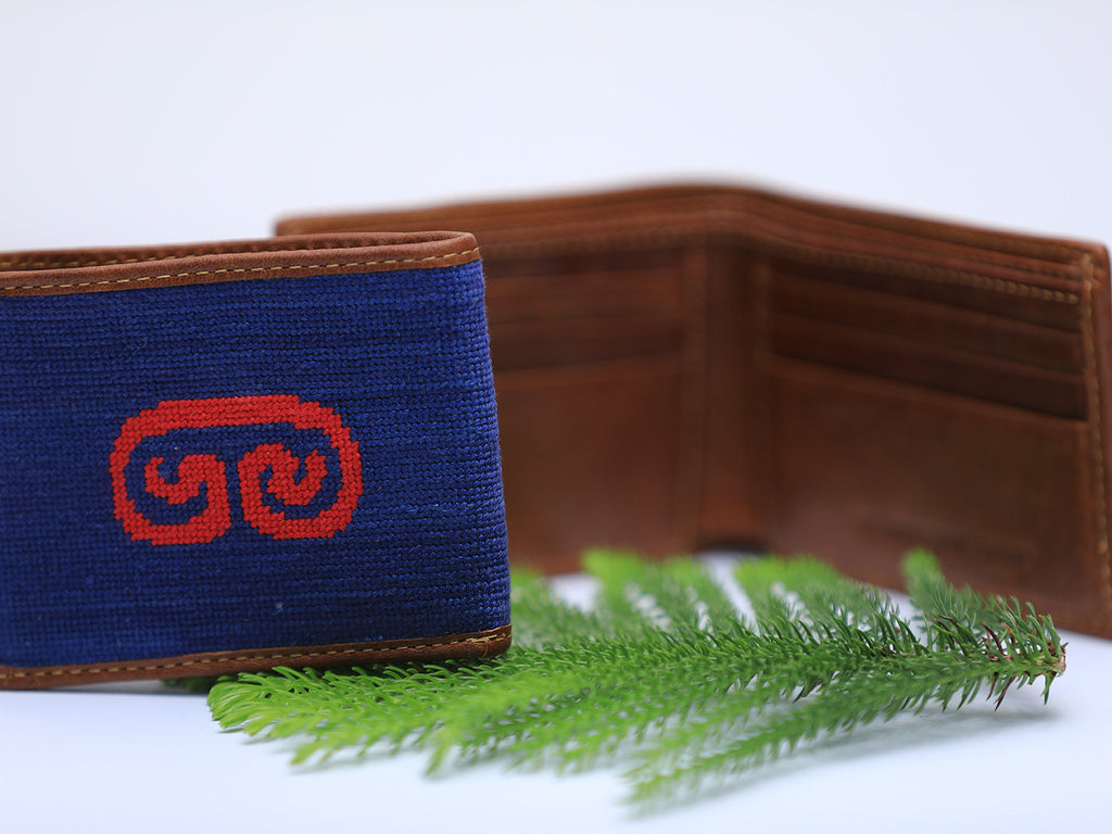 Caneel Bay Needlepoint Wallet