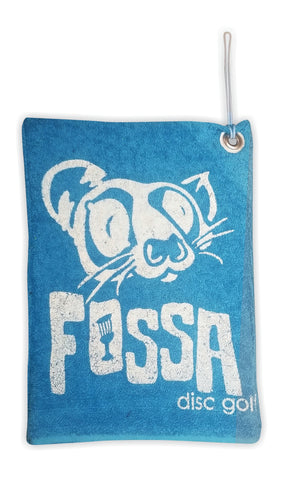 Bag it up Towel - Blue/White - fossadiscgolf