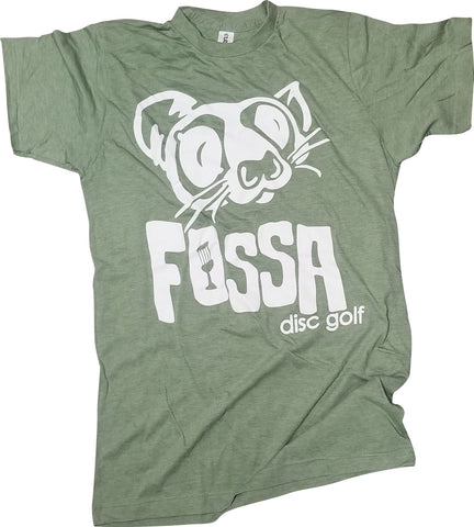 Fossa T-shirt - Marine Green/White