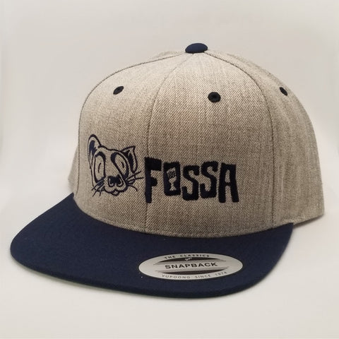 Snapback Flatbill - Heather/Navy