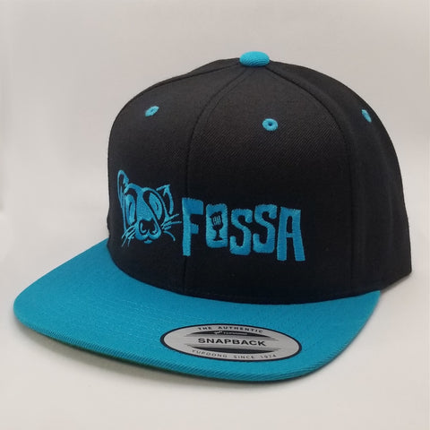 Snapback Flatbill - Black/Electric Blue