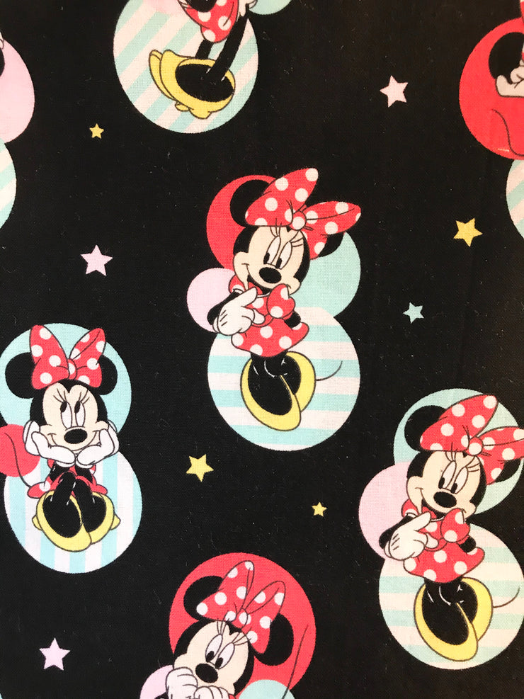 Black Back Minnie Cloth Face Mask