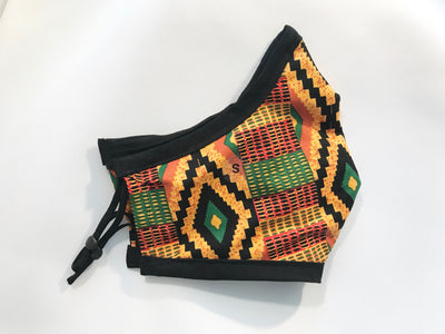 Diamond Kente Cloth Face Mask