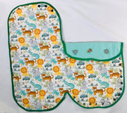 Green Trim Safari Baby Girls/Boys Receiving/Swaddle Blanket/Sleeping bag