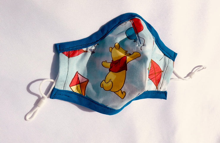 Winnie The Poo Fitted Face Mask