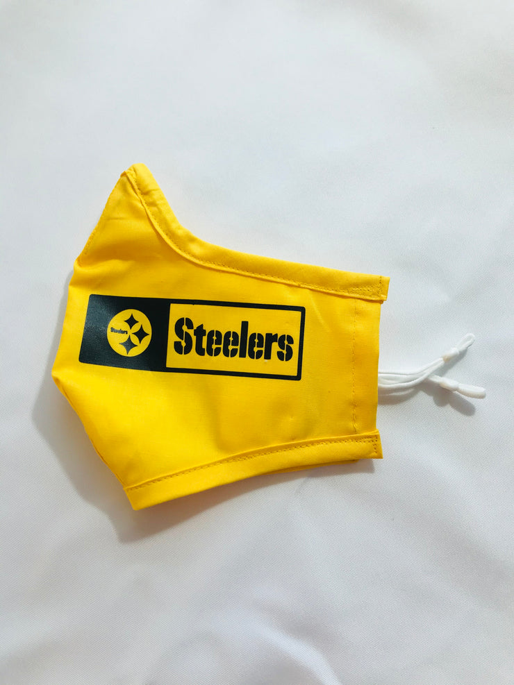 Pittsburgh Steelers Fitted Face Mask