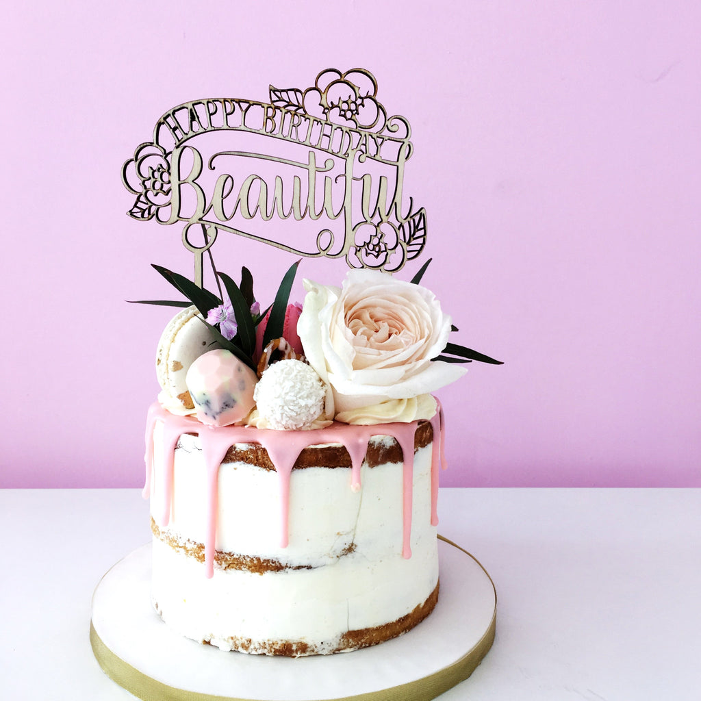 Inch Wood Cake Topper