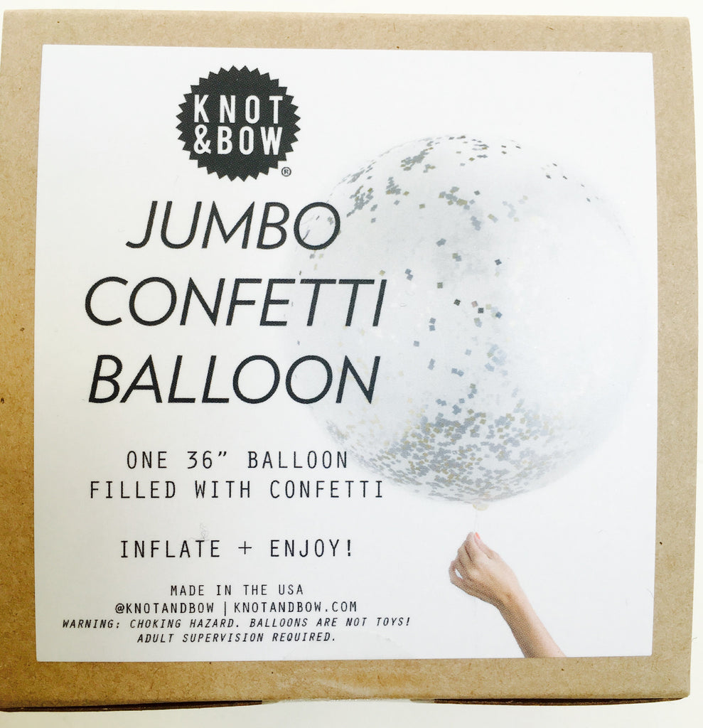 Confetti-filled Balloon - Metallic